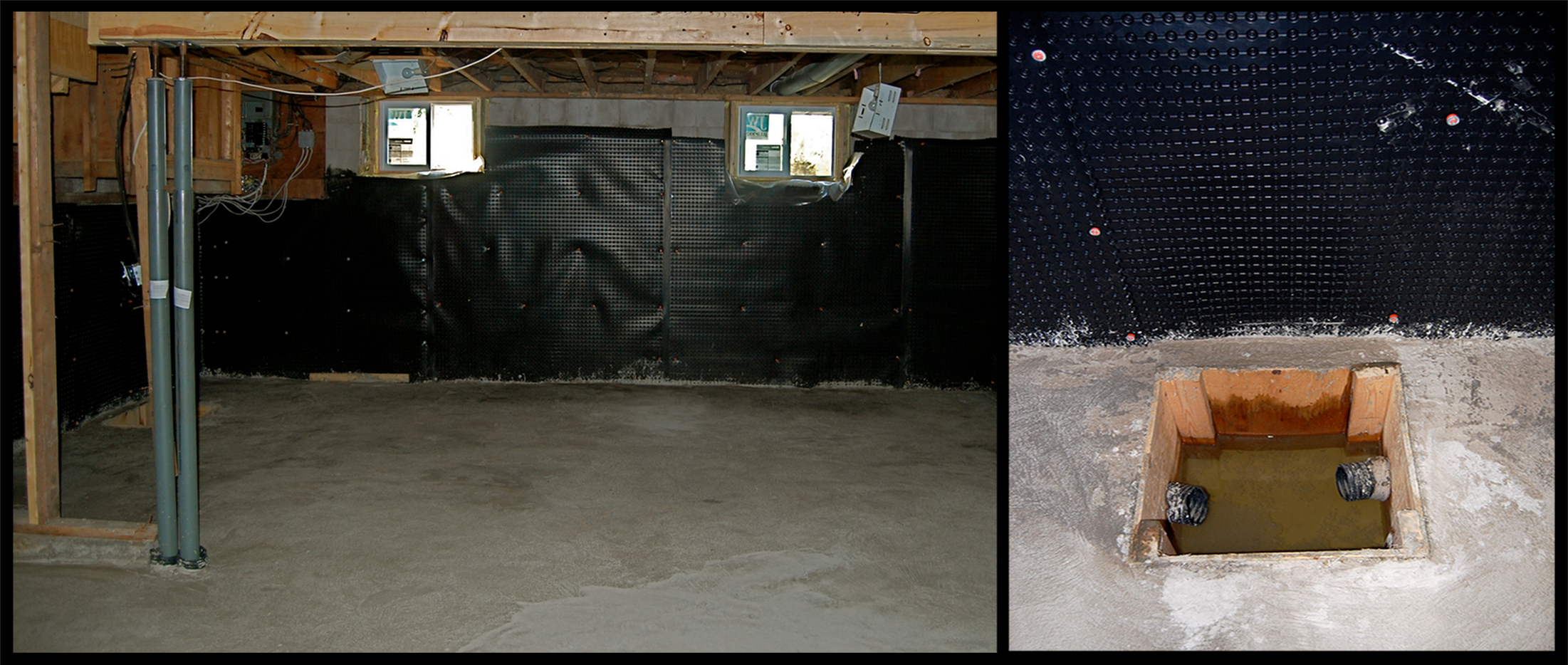 Basement waterproofing systems furlong contracting - Interior basement ...